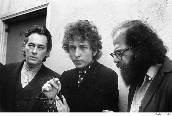 Michael McClure, Bob Dylan & Allen Ginsberg