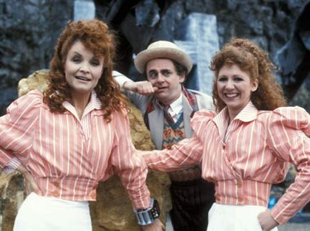 doctor_who_sylvester_,mccoy_with_howard's_way's_kate_o'mara_as_the_rani_and_bonnie_langford