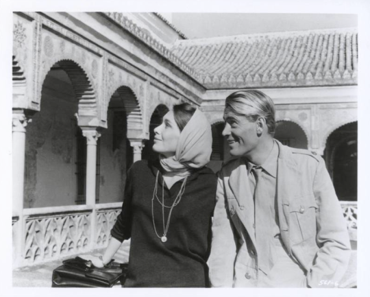 lawrence_of_arabia_peter_o'toole_and_wife_sian_williams_on_location