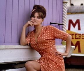 claudia_cardinale_in_pink_and_white-spotted_dress_by_phillipe_halsman