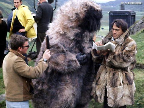 doctor_who_patrick_troughton_on_location_and_between_takes_with_a_yeti