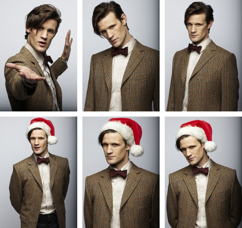 doctor_who_matt_smith_poses_with_christmas_hat