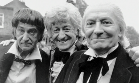 doctor_who_patrick_troughton_jon_pertwee_and_william_hartnell_the_three_doctors_b_&_w_2