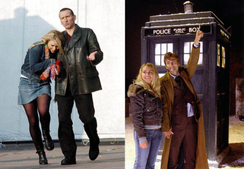 doctor_who_billie_piper_between_takes_with_christopher_eccleston_and_david_tennant