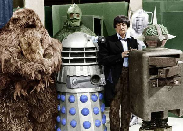 doctor_who_patrick_troughton_with_1960s_monsters_including_a_dalek_a_cyberman_and_a_yeti_(in_colour)