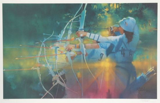 bob_peak_official_1984_olympics_archery_poster_for_us_postal_service