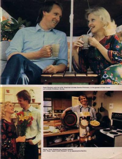 sandra_dickinson_and_peter_davison_drinking_coffee