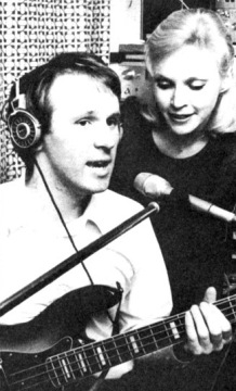 sandra_dickinson_and_peter_davison_in_a_recording_studio