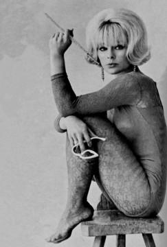 elke_sommer_in_bodysuit_with_long_cigarette_holder
