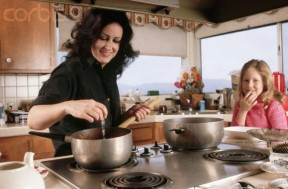 Grace Slick and Daughter Cooking at Home