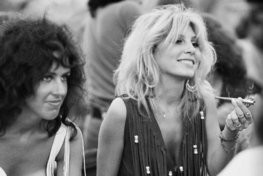 Grace Slick and Sally Mann at Woodstock