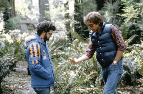 return_of_the_jedi_george_lucas_and_harrison_ford_on_location