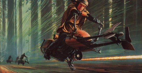 return_of_the_jedi_ralph_mcquarrie_concept_art_for_speeder_bike_chase
