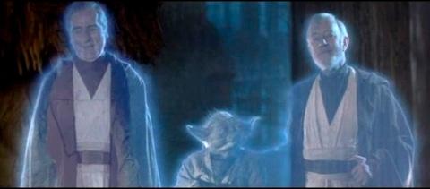 return_of_the_jedi_sebastian_shaw_as_anakin_skywalker_yoda_and_alec_guinness_as_ben_kenobi