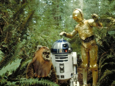 return_of_the_jedi_warwick_davis_as_wickett_the_ewok_kenny_baker_r2d2_and_anthony_daniels_as_c3p0