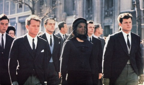 john_f_kennedy_assassination_robert_and_edward_kennedy_accompany_widow_jackie_kennedy_at_jfk's_funeral