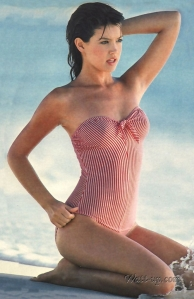 phoebe_cates_modelling_in_red_and_white_swimsuit