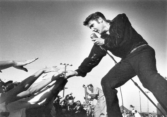 People - Elvis Presley 1956 by Roger Marshutz