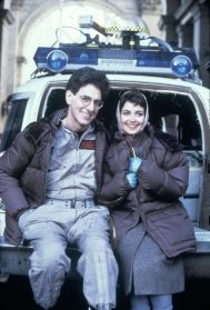 ghostbusters_harold_ramis_and_annie_potts_on_location_between_takes