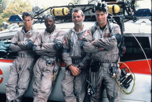 ghostbusters_harold_ramis_ernie_hudson_bill_murray_and_dan_aykroyd_in_rare_'moody'_publicity_shot