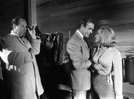 goldfinger_guy_hamilton_directing_sean_connery_and_honor_blackman