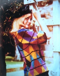 shirley_eaton_in_multi-coloured_jumper_and_cap