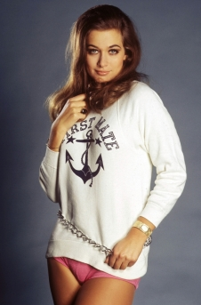valerie_leon_in_first_mate_shirt_and_pink_bottoms