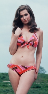 valerie_leon_in_red_pink_and_brown_bikini