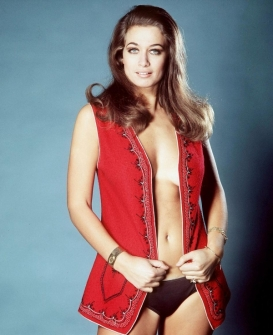 valerie_leon_red_waistcoat_and_black_pants
