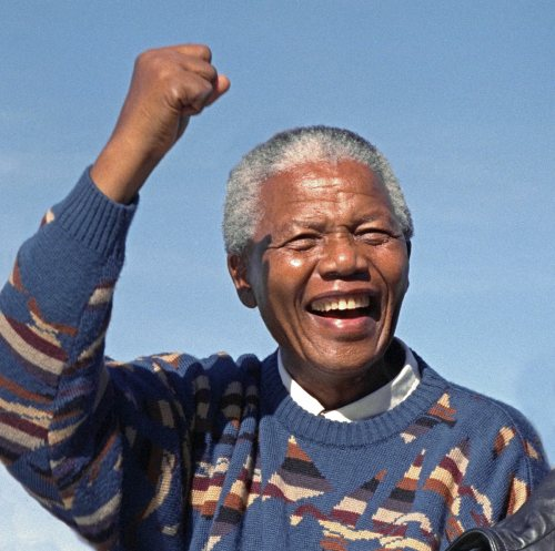 Nelson Mandela During Election Campaign, Athlone Stadium, Cape Town, South Africa - Mar 1994