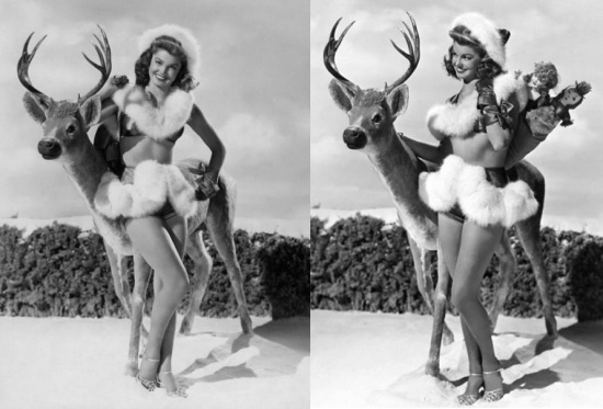 esther_williams_and_her_reindeer